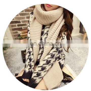 2016 New Design Wholesale Knit Wool Scarf