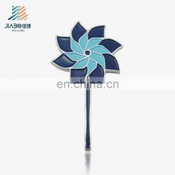 custom metal enamel flower design brooch badge