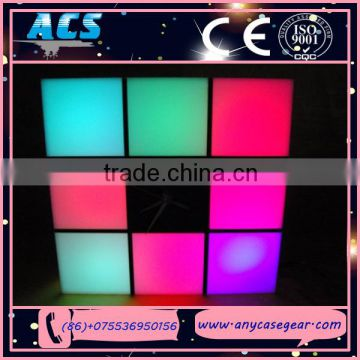 ACS new invention color changing rechargable led cube,led cube light for bar,cafe,garden,home decoration
