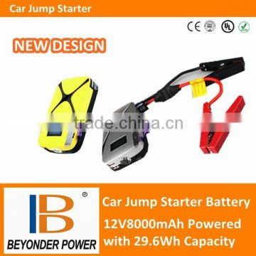 High quality 12V car jump start battery, portable power station with LED lights and USB port