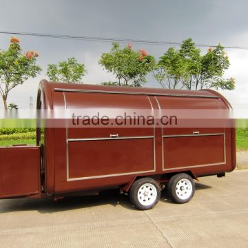 china snack sale food cart three sides window food cart towable food cart for sale