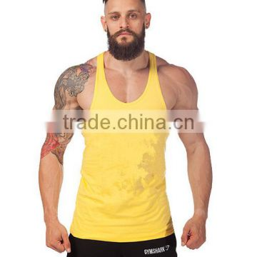 Men Cotton Stringer Bodybuilding Equipment Fitness Plain Gym Tank Top shirt Wholesale Solid Singlet Y Back Sport clothes Vest