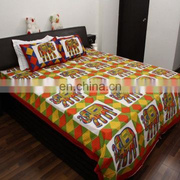 cotton elephant printed bedsheets handmade design cotton bedsheets luxury jaipuri bedsheets