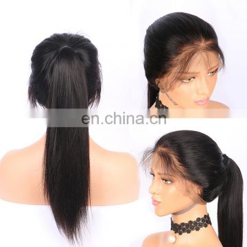 Ali express Queena 180% Human hair wig Pre Plucked natural hairline with baby hair 360 lace wigs for black women
