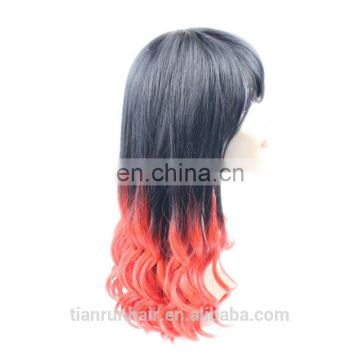 two tone silk top full lace wigs in stock brazilian wig human hair red color