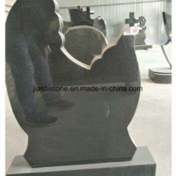 Iran Black Granite Polished Tombstone with Good Quality Low Price