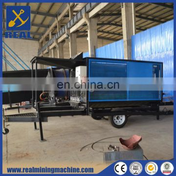 Small scale China mobile alluvial gold mining trommel equipment mini gold wash plant gold mining equipment manufacturer
