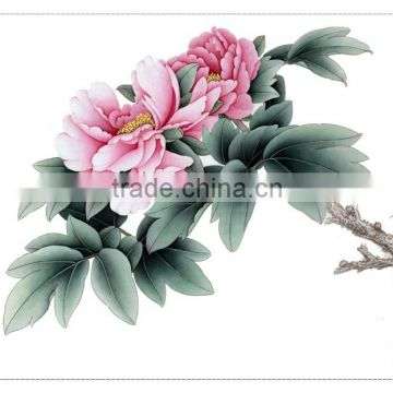 He Ze handmade decoration special silk base material painting by number Chian