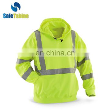 2017 hooded fluorescent strip design sweatshirt