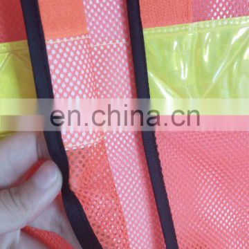High-Visibility Orange Reflective Personal Safety Vest