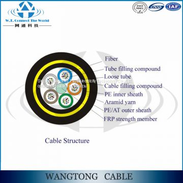 ADSS cable aerial stranded self supporting power transmisson line fiber optic cable