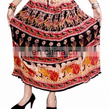 Indian Floral Hippie Boho Gypsy Tribal Animals printed Elastic Waist Long Skirt Dress Skirt long jupe falda Tribal gypsy kjol