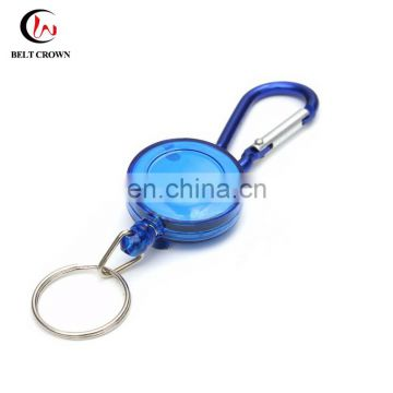 ABS Material ID Retractable Badge Holder Reel with Carabiner