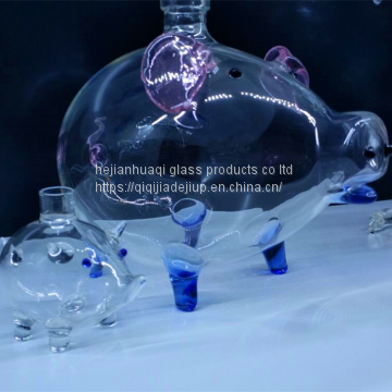 Most popular products pig custom glass bottle import cheap goods from china
