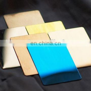 Titanium  Colored stainless steel for decorative