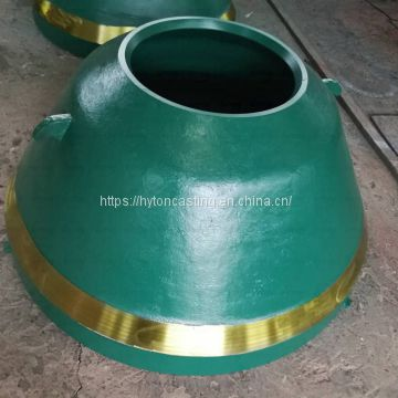 accessories concave head liner of Mn18Cr2 suit gp11f metso nordberg cone crusher
