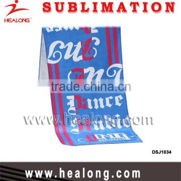 2016 Cheap Wholesale China Supplier Sublimation Customized 100% Cotton Microfiber Hotel Bath Sports Hand Face Towel