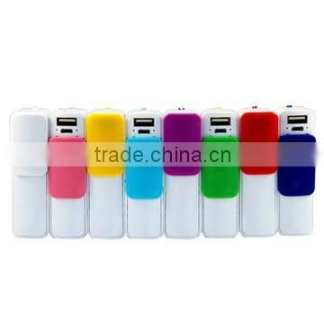 Mini portable slide cover power bank good for promoting 2600mAh