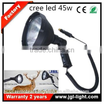 Guangzhou led super bright outdoor lighting 45W Powerful handheld Cree spotlight