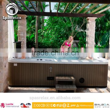White Acrylic Whirlpool Massage Massage Type and Freestanding Installation Type pop-up tv outdoor spa