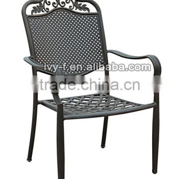 Restaurant Terrace Dining Chair Cast Aluminum Chair/bronze Metal Dining  Chair/metal Garden Chair