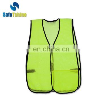 Hot sale green color cheap security safety breathe freely vest
