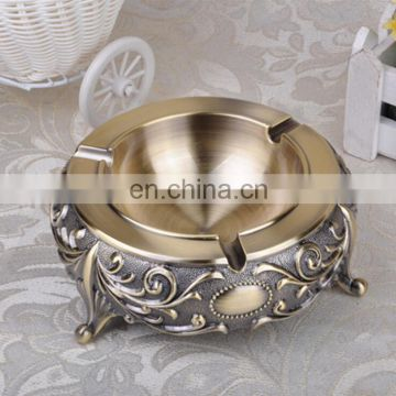 Zinc Alloy high quality round shape metal craft home decoration gifts ashtray
