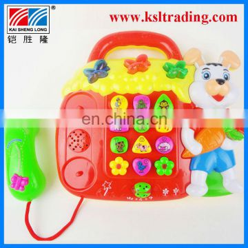 plastic animal musical electronic organ toy for kids