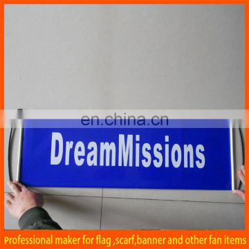 PET fanbana handheld fan scroll banner