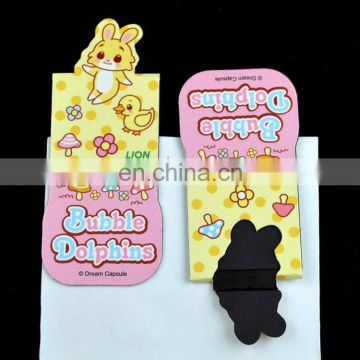cartoon animal bookmark design for kids