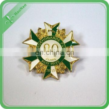 wholesale custom private school uniform logo star shaped badge