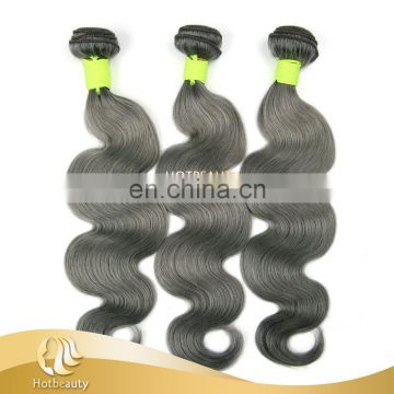 New Arrival Brazilian Human Remy Hair weft, Grey Brazilian Hair