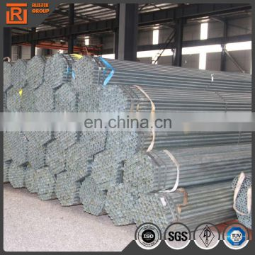 China supplier mild steel pipe, diameter 40mm thickness 1.5mm pre galvanized gi pipe
