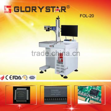 20W pigeon ring/bird ring fiber laser marking machine with rotary device