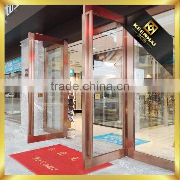 Custom Made Stainless Steel Glass Door Metal Frame For Building Gate ...