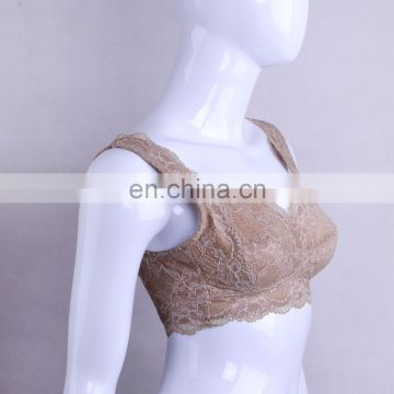China Manufacturer Elegant Young Lady Brown Underwire Camisole Bra