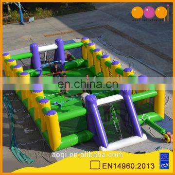 AOQI outdoor or indoor football court funny inflatable football court toy football stadium made in China