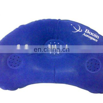 Inflatable pvc travel pillow