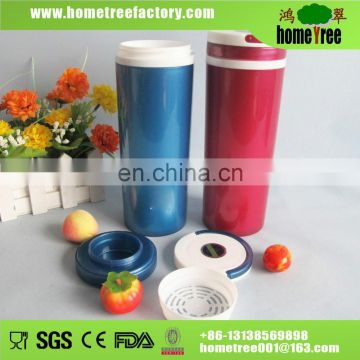 2015 new BPA free double wall plastic cup 550ml