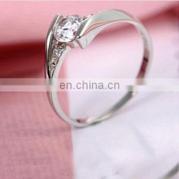 S925silver fashion platinum plating high-end couple ring