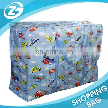Wholesale Reusable High Quality PP Woven Zipper Storage Bag