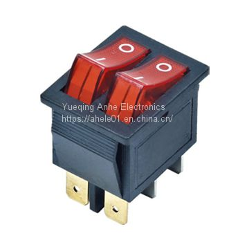 Wholesale double buttons rocker switch light t85