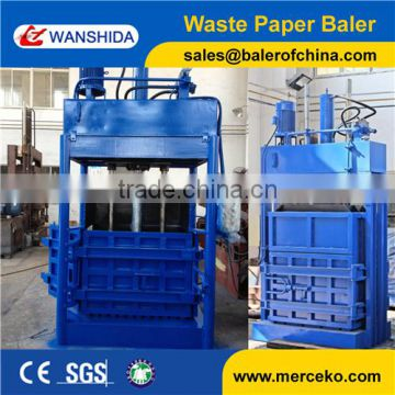 hydraulic vertical good quality low price waste paper hay baler with manual tie
