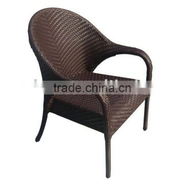 outdoor rattan chair or patio wicker armchair