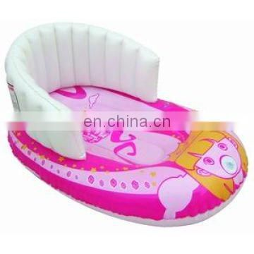 PVC inflatable sledge with backrest
