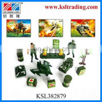 kids mini plastic military series toys