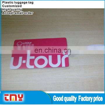 Cheap Price Free Sample Travel Funny Cartoon Plastic Luggage Tag Made In China