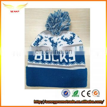jacquard weave knit hat beanies striped knitted beanie