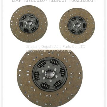Zhejiang Depehr Heavy Duty European Tractor Clutch Disc DAF Truck Copper 362mm Clutch Friction Plate 1878002071
