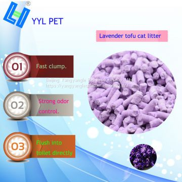 Pet product: hot sell tofu cat litter with lavender scent
